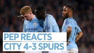 PEP REACTS TO CHAMPIONS LEAGUE EXIT | CITY 4-3 SPURS