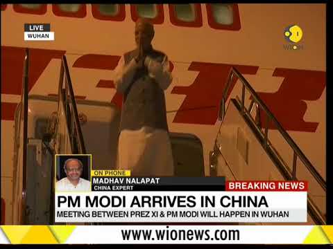 Prime Minister Modi  Narendra has landed in the city of Wuhan