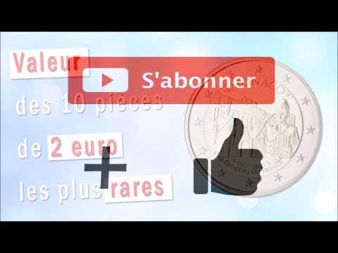 Valeur des 10 pièces de 2 euro les plus rares