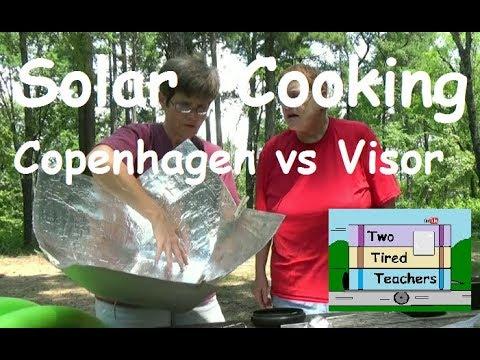 Solar Cooking Corn on the Go  Car Sun Visor vs Copenhagen Solar Cooker- FREE Solar Cooking / Cooker