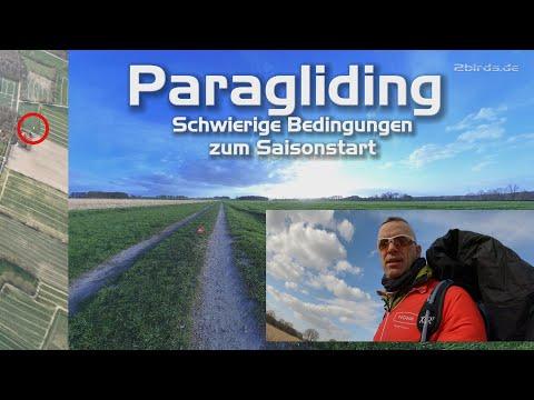 Gleitschirm-Paragleiten Saisonstart: Schwierige Bedigungen!