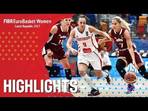 Montenegro v Latvia - Highlights - FIBA EuroBasket Women 2017