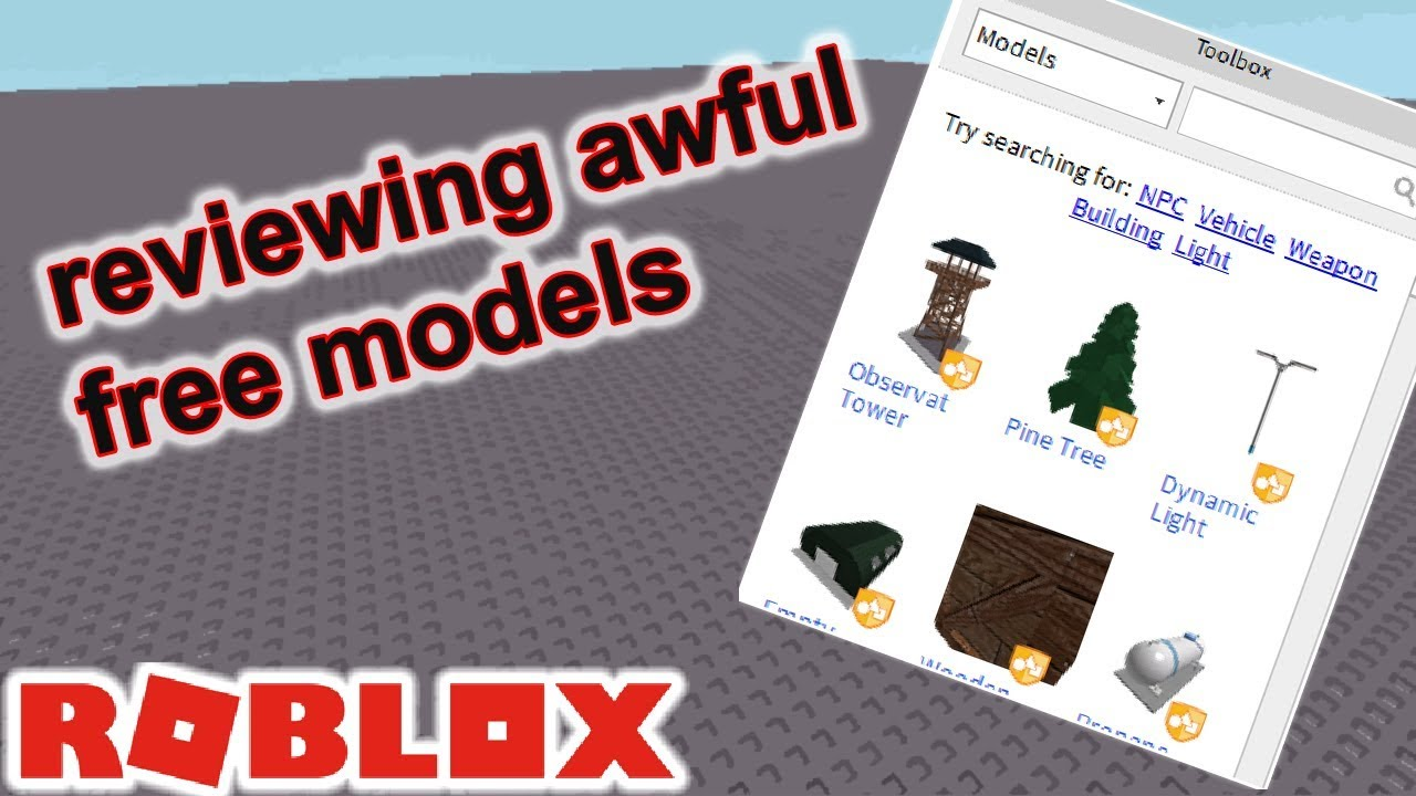 Roblox Modeling Community Reviewing Awful Roblox Free Models Youtube