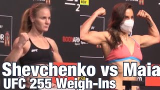 <b>UFC 255</b> Weigh-Ins: Valentina Shevchenko vs Jennifer Maia ...