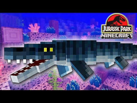 JURASSIC PARK NO MINECRAFT #10 = O TEMIDO MOSASSAURO (GAMEPLAY PT/BR)