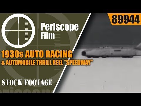 """1930s AUTO RACING & AUTOMOBILE THRILL REEL  """"SPEEDWAY"""" 89944"""