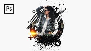 Cara Edit Foto Keren Explosion Abstract Art Manipulation - Photoshop Tutorial Indonesia