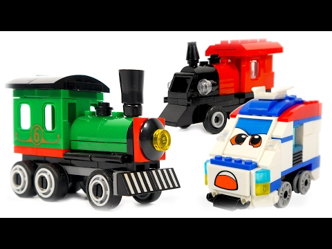 Thumbnail: TRAINS FOR CHILDREN VIDEO: Chinense LEGO Brick Builder Steam Train and Mini Train Toys Review
