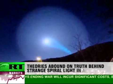 UFO or Missile Trace-Mystery Spiral Lights Over Norway