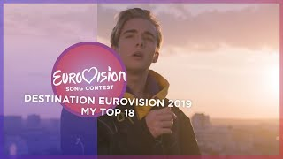 Eurovision 2019 (Destination Eurovision 2019/French National Selection) - Top 18
