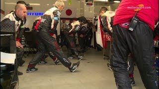 24 Heures du Mans 2018 - Ambiance gymnastique chez Toyota