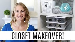 SIMPLIFIED ORGANIZATION! 💙 Linen & Medicine Closet Makeover (Dollar Tree, Walmart, Target)
