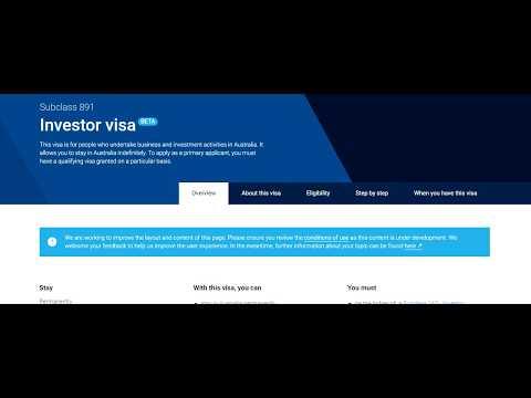 Subclass 891 Investor Visa Australia Full Information