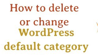 How to delete WordPress default category