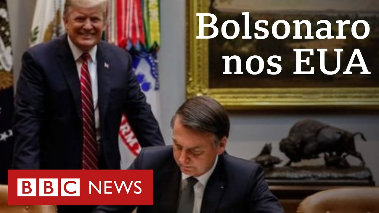 Bolsonaro janta com Trump, assina acordo militar e exclui jornal de cobertura