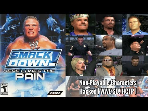 9 Non-Playable Characters Hacked | WWE SD! HCTP 2003 |
