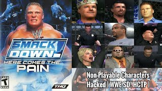 9 Non-Playable Characters Unlocked   WWE SmackDown! Here Comes The Pain (2003)