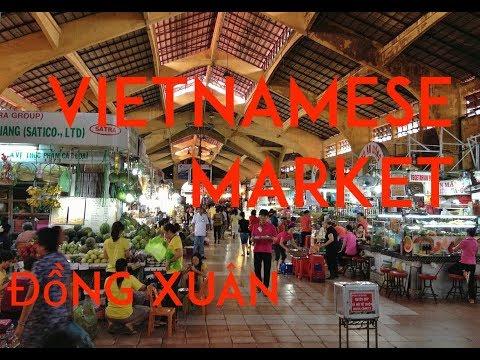 Đồng Xuân Hanoi Market. Market in Vietnam.