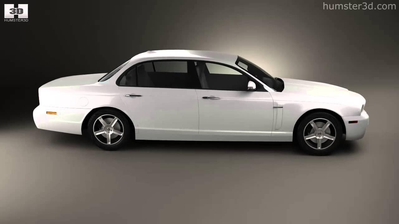 Jaguar XJ (X358) 2007 by 3D model store Humster3D.com ...