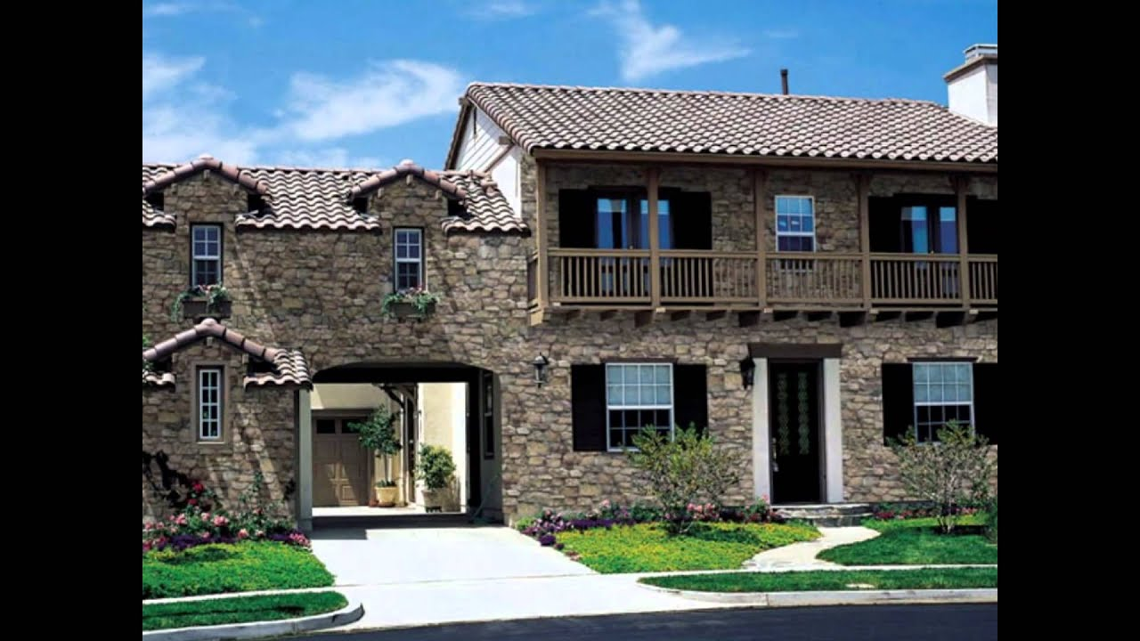 Great Rock and Brick Stucco Exterior Designs for Home ...