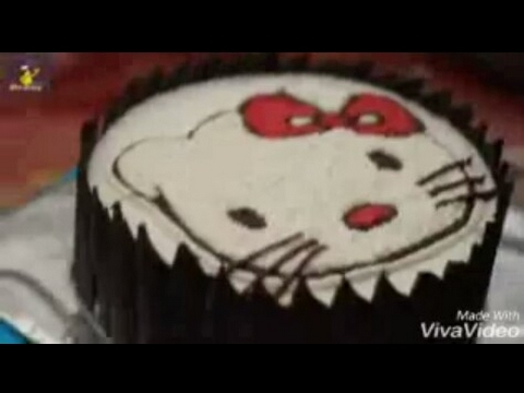 Cara Menghias Kue Tart Hello Kitty Youtube