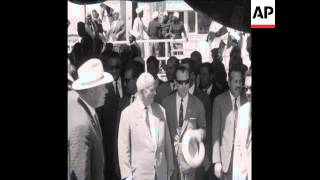 CAN201SOVIET LEADER NIKITA KHRUSHCHEV VISITS THE ASWAN DAM CONSTRUCTION SITE