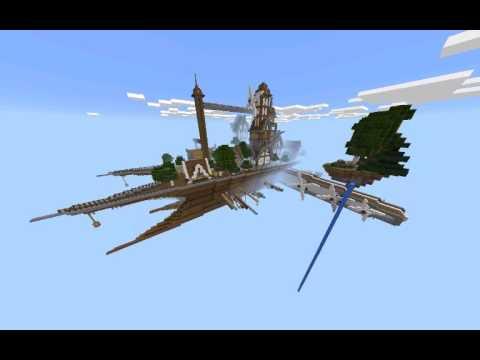 Mcpe: Exploring Map Ep.2 [Turbine Cloud, the floating city]
