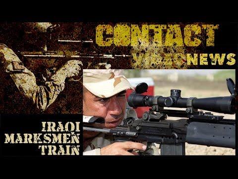 Iraqi Army marksmen test sights with Task Group Taji
