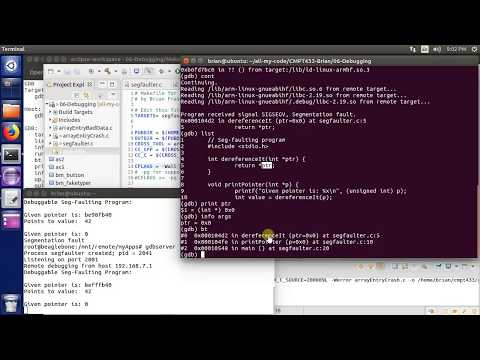 Cross Debugging SegFaults with GDB: Embedded Linux