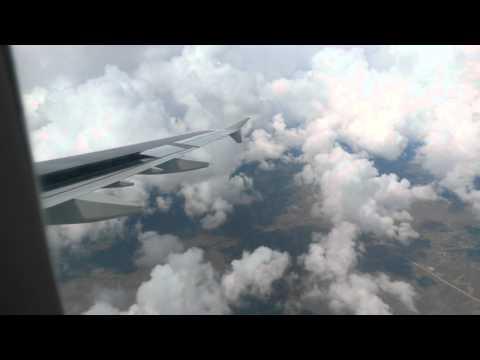 Полет над Арменией. Заход на посадку в Ереван.