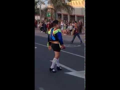 A man dressed like a woman. Fuerteventura, carnival.