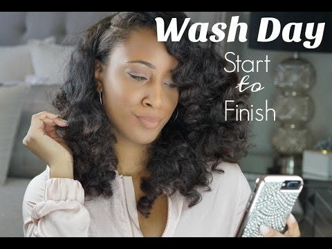 Start to Finish Wash Day on Waist-Length Natural Hair