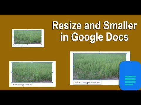 How to Resize and smaller Image in Google Docs