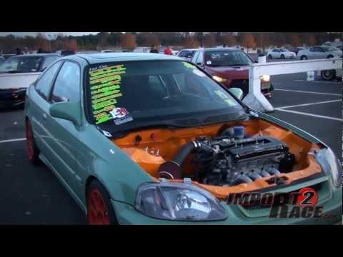 Honda Civic Show Car Clean engine