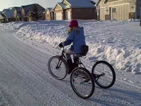 Beach Cruiser Bike Converted To 3 Wheel Bicycle Using This