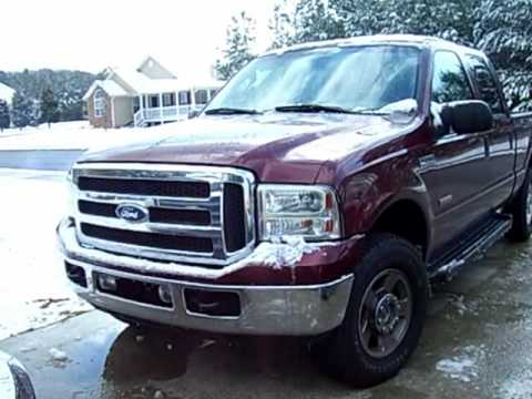 2005 F250 6 0 Cold Start Youtube