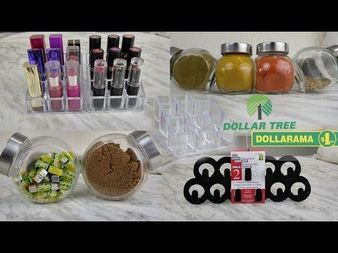 Acrylic Dollar Store Organization Ideas |KITCHEN | VANITY | CLOSET