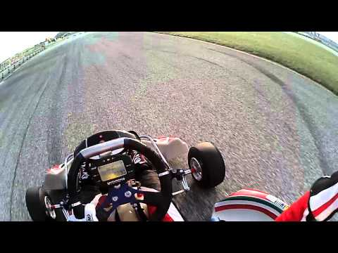 easykart 125 master onboard Cristian Adani P1 Cervia 2014 parte 1