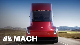 Tesla Just Unveiled A Brand New Roadster | Mach | NBC News 2017 Video