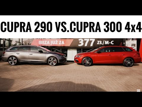 2017 seat leon cupra st 300 4wd vs 2016 290 2wd accele. Black Bedroom Furniture Sets. Home Design Ideas