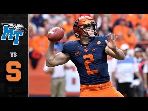Middle Tennessee vs. Syracuse Football Highlights (2017)