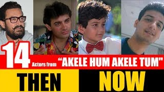 "14 Bollywood Actors from ""AKELE HUM AKELE TUM"" 1995 