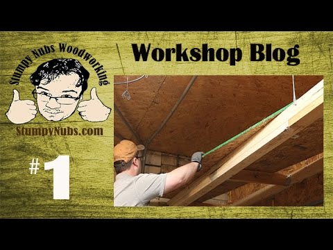 SNW Shop Blog #1- Building storage lofts for drying lumber