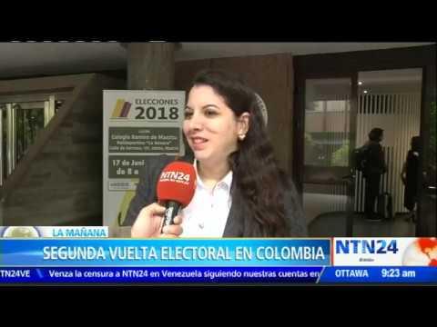 Colombianos en el exterior ya pueden votar para la segunda vuelta presidencial