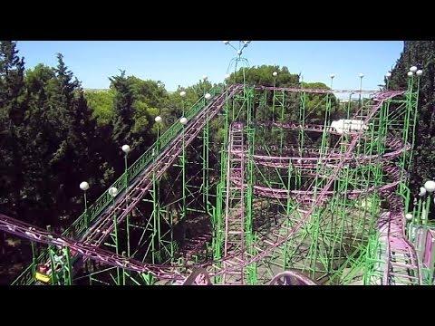 Moncayo front seat on-ride HD POV Parque de Atracciones de Zaragoza