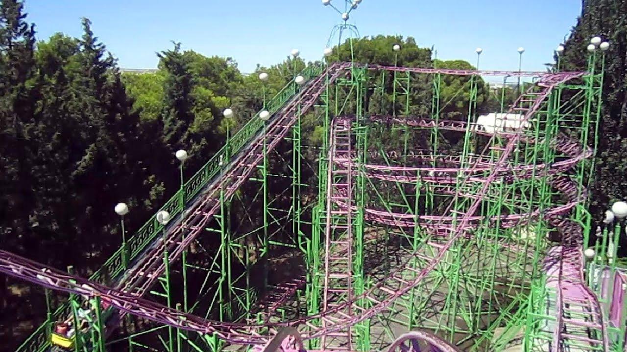 Moncayo front seat on ride hd pov parque de atracciones de - Parque atracciones zaragoza ...