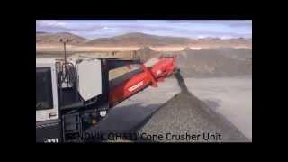 sandvik qh331 hydrocone mobile crusher