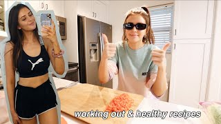 VLOG: Working Out, Healthy Dinner + Cookies Recipe!