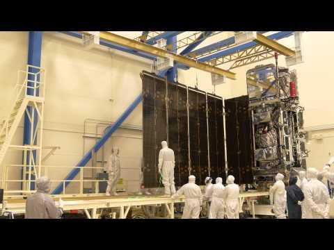 GOES-R Solar Array Deployment Test at Lockheed Martin