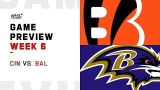 Cincinnati Bengals vs. Baltimore Ravens Week 6 NFL Game Preview